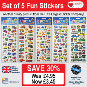 925 Fun Stickers Cars /& Transport: Set of 5-203 910 320 327