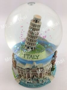 Vintage-Snow-Globe-Water-Art-Glass-Paper-Weight-3D-Resin-Italy-Souvenir-Gift-001