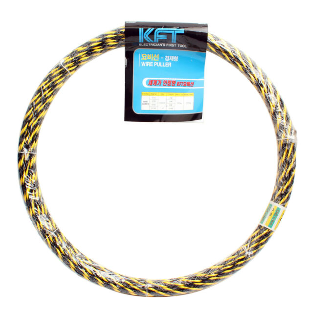 New 0715 POM Fish Tape Reel Wire Pullers 15m Tool Electricians Cable 50ft