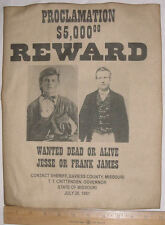 BIG 11 x 14 Jesse & Frank James Wanted Poster, old west, western, outlaw