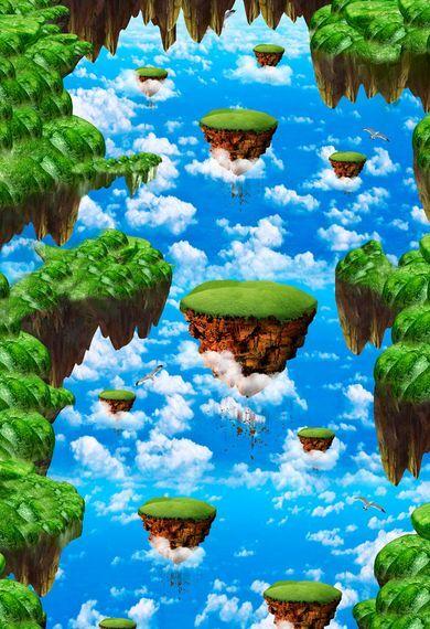3D Cielo Azul Piso impresión de parojo de papel pintado mural de montaña Calcomanía 5D AJ Wallpaper