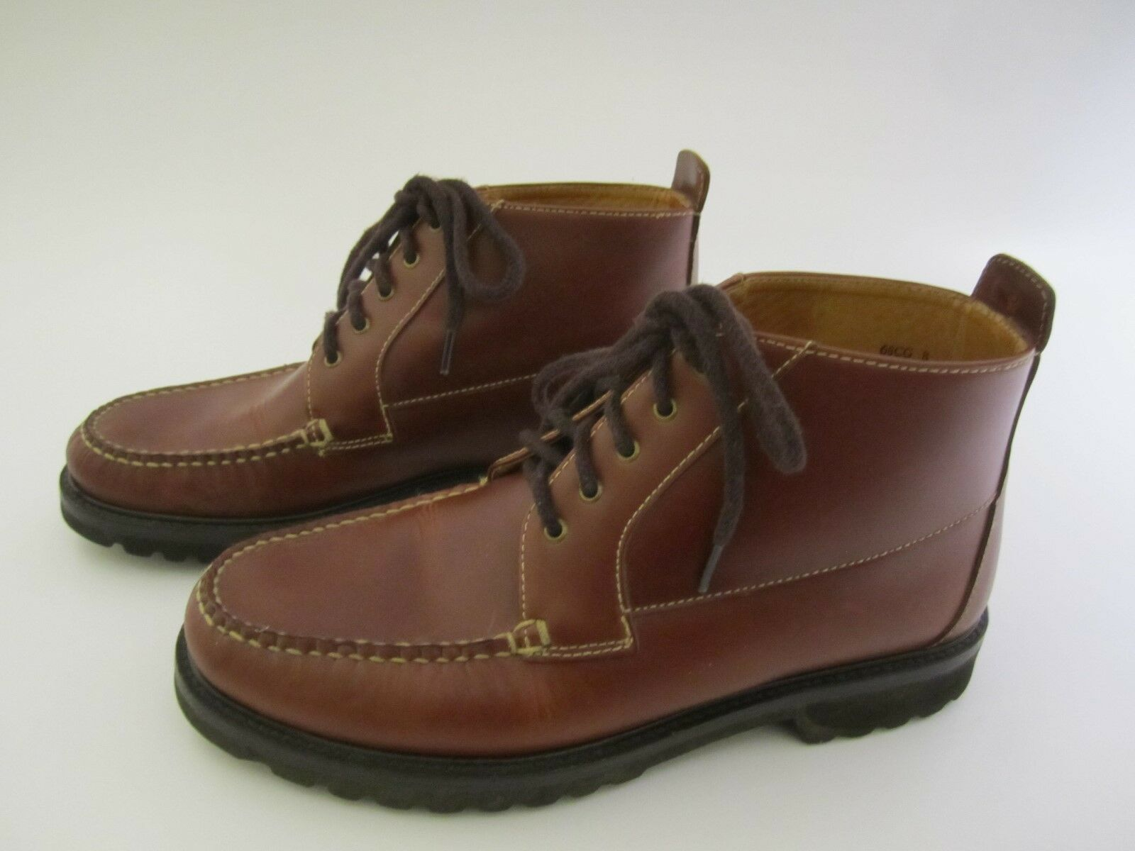 Orvis Brown Leather Mens Ankle Boots Vibram Gumlite Soles Size 8 Made in  Brazil