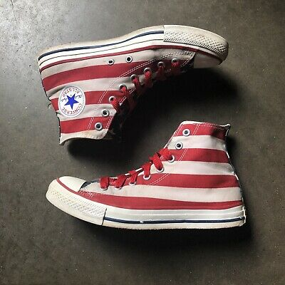 Men's Converse Chuck Taylor All Star USA Flag Stars And Striped Sneakers Sz 8   eBay