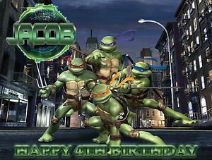 TMNT-Ninja-Turtles-Personalised-Edible-Image-REAL-Icing-Birthday-Cake-Topper