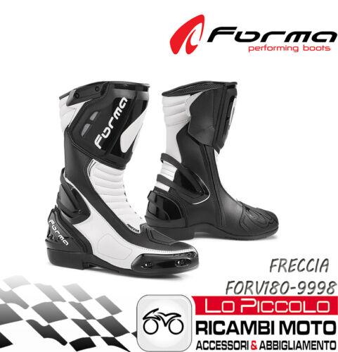 FORMA FRECCIA STIVALE RACING MOTO STRADA NERO//BIANCO MISURA 41