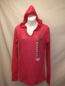 Nuevo-Wisconsin-Badgers-Mujer-Talla-M-Mediano-Rosa-con-Capucha-Camisa