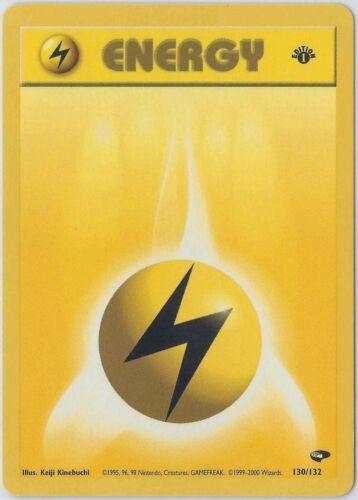 LIGHTNING ENERGY 130//132 Gym Challenge ⎜1st Edition ⎜ Pokemon 2000