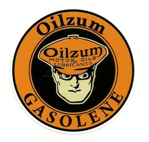 """/""""OILZUM GASOLENE /"""" Sticker Decal VINYL Garage Promo Service Station OIL PETROL"""