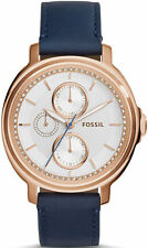 Women's Fossil Chelsey Multi-Function Leather Strap Watch ES3832