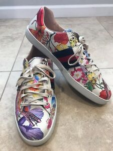 d34934f13d7 Image is loading Gucci-New-Ace-Floral-Dino-Sneaker-Size-15-