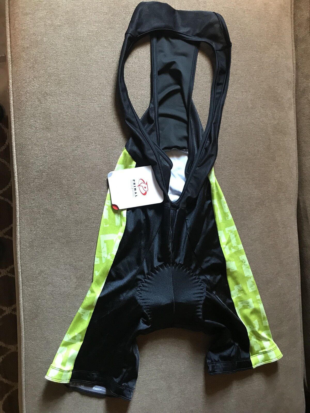 PRIMAL First Descents Cycling Chamois Compression Bib Shorts - NWT Men's Small