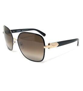 Salvatore Ferragamo Sunglasses SF150S 733 Light Gold-Black Women 59x16x135
