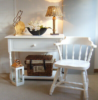 Stuhl Stühle Shabby antik Landhaus Bauernstuhl neu aufgearbeitet massiv weiß