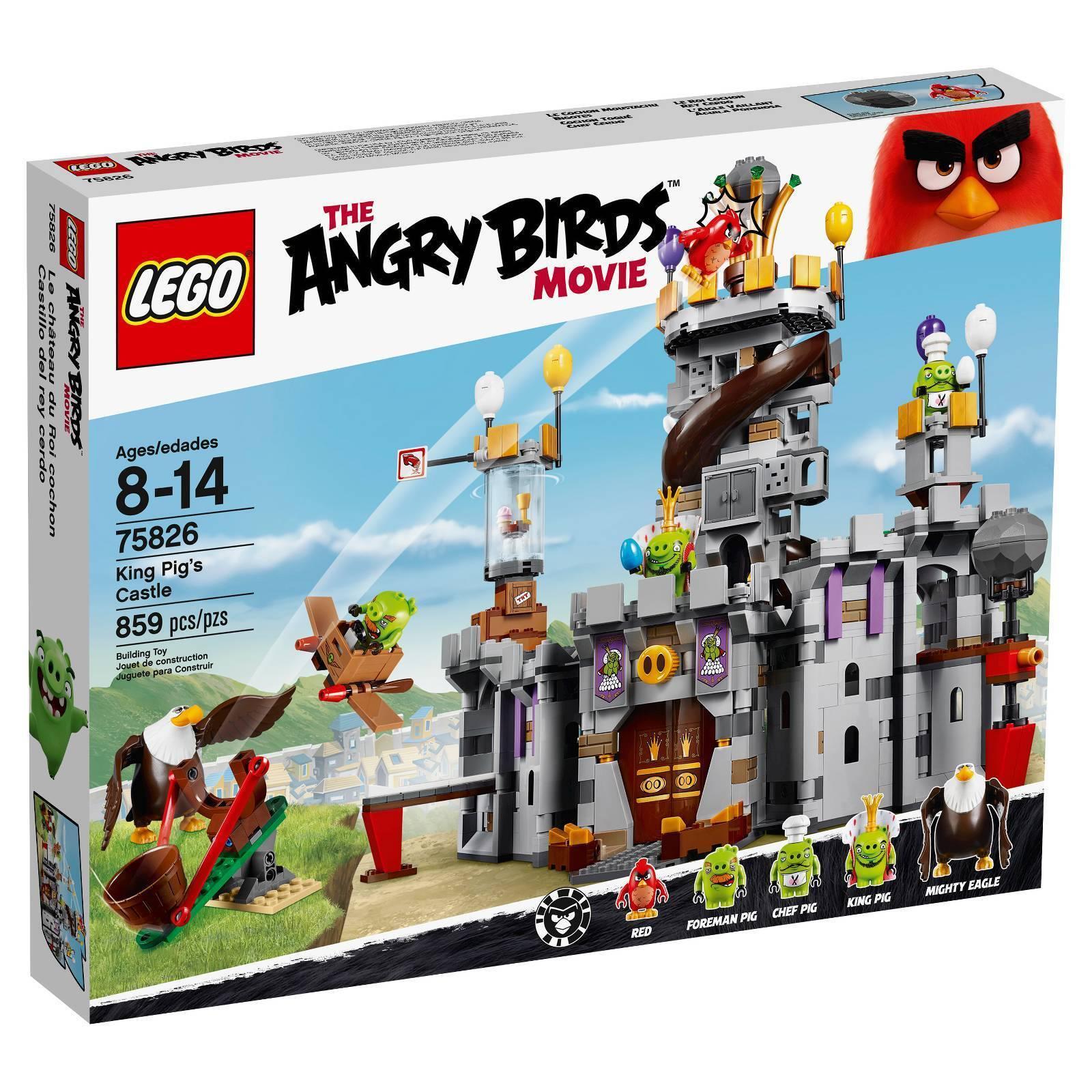 LEGO 75826  The Angry Birds Movie  King Pig's Castle 859 Pieces - nouveau - RETIrouge  magasin d'usine