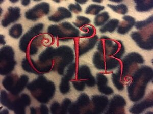 Image Is Loading PERSONALIZED LEOPARD BLANKET EMBROIDERED GIFT CAMP BIRTHDAY