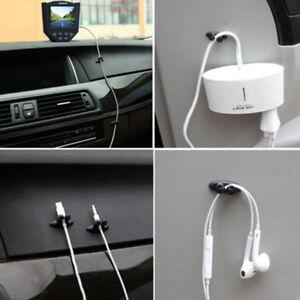 8-X-voiture-fil-cordon-clip-cable-porte-cravate-fixateur-organisateur-gouttePO