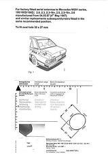 Mercedes 190 E 190 D W201 87>93 Aerial Antenne Grommet Seal 38.5 º