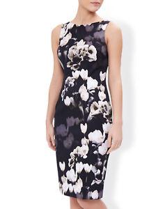 WALLIS FAUX PEARL COLLAR BLACK STRETCH JERSEY SHIFT DRESS Sizes 8 to 18