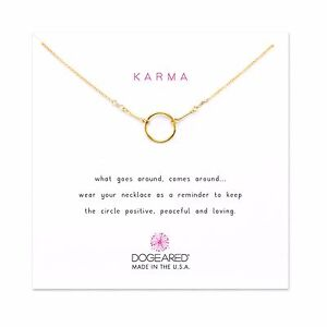 Dogeared-Classic-Original-16-034-with-2-034-Extender-Gold-Dipped-Karma-Boxed-Necklace