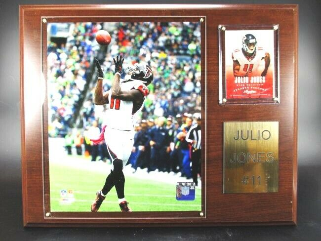 Julio Jones Atlanta Falcons Wood Wall Picture 15In, Plaque NFL Football