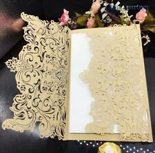 24PCS Laser Cut Wedding Invitations Birthday Invitation Cards Kit Baby Shower