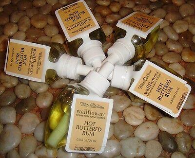 RETIRED Bath & Body Works HOT BUTTERED RUM Wallflower Bulbs x 5 + FREE SHIPPING