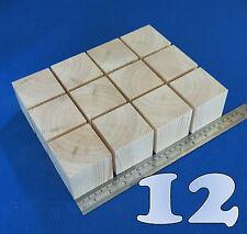 "LOT x 12 CUBES 2.5""/ 65 mm WOODEN BLOCKS BUNDLE SET PINE WOOD NATURAL ECO BRICKS"