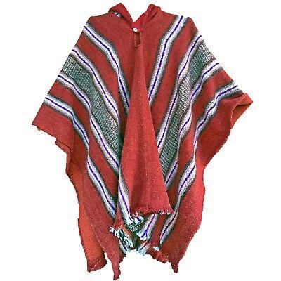 Handwoven Llama Wool Mens Womans Unisex Hooded Cape Poncho Coat Jacket Jedi Hohe QualitäT Und Geringer Aufwand