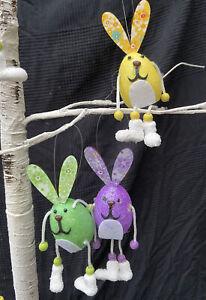4-x-Dangle-Leg-Easter-Bunny-Rabbit-Decorations-SEE-DESCRIPTION-for-colours