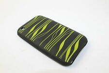 Apple iPhone 3G / 3GS Designed Silicone Black / Green Case