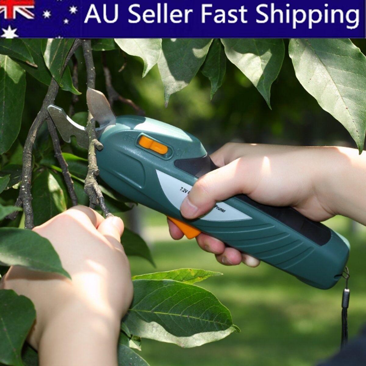 7.2V Li-ion Battery Garden Cordless Electric Pruning Shears Snips Branch Cutter