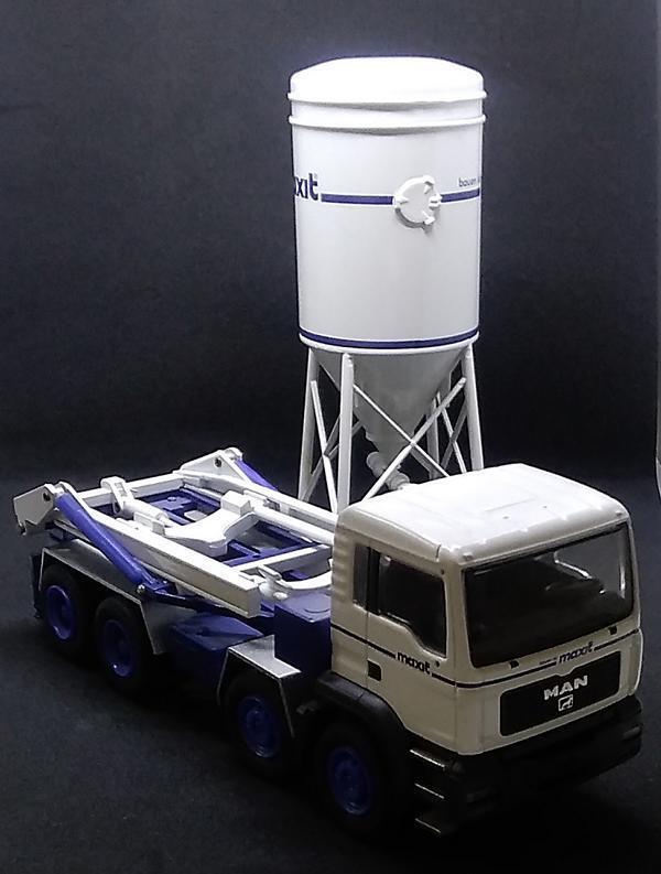 MAN Silo-Fahrzeug, Metall sehr detailgetreu, 16 16 16 cm lang, selten rar 54df01