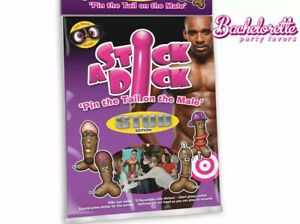 PIN THE TAIL STICK A DICK STUD EDITION BACHELORETTE HENS NIGHT PARTY GAME MACHO