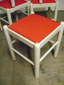 Outstanding Details About Loewenstein Stool Chair Bench Ottoman Modern Style W Red Padded Seat Machost Co Dining Chair Design Ideas Machostcouk