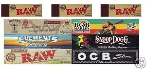 MIXED-Rizla-KING-SIZE-ROLLING-PAPERS-X6-AND-RAW-TIPS-X3