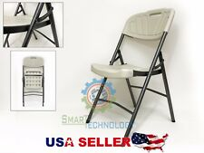 plastic folding chair durable comfortable metal frame tall back long