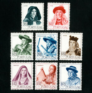 Portugal-Stamps-675-82-VF-OG-H-Catalog-Value-155-45