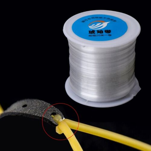 1 Roll Rubber Band Line 20M String Wire Used For Slingshot Hunting Catapult Head