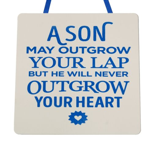 A Son may outgrow your lap... Handmade Wooden Plaque