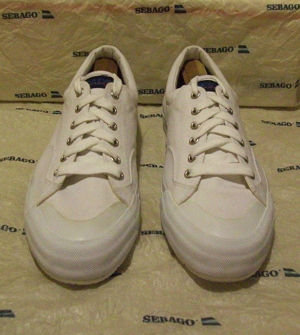 [[New Sebago #30-155 9 M white canvas (3911)]] Scarpe classiche da uomo