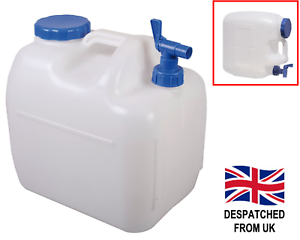 23L Large Water Container Carrier Jerry Can Food Boat Carry Handle Tap Campervan