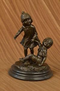 Antiquitäten & Kunst Bronze Handgefertigt Unterzeichnet ~ D.h Chiparus ~ Zwei S Mädchen Spiel Bronze Good Reputation Over The World