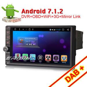 7-034-DAB-Android-7-1-Doppel-Din-Autoradio-GPS-Bluetooth-WiFi-3G-OBD2-Navi-RDS-SD