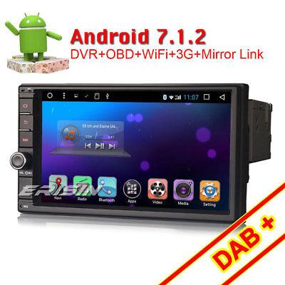 "7"" DAB+ Android 6.0 Doppel Din Autoradio GPS Bluetooth WiFi 3G OBD2 Navi Cam-Ein"