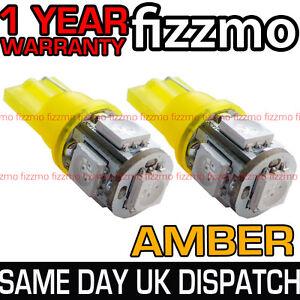 2x-5-SMD-LED-AMBER-ORANGE-INDICATOR-SIGNAL-TURNING-SIDE-LIGHT-BULB-T10-W5W-501