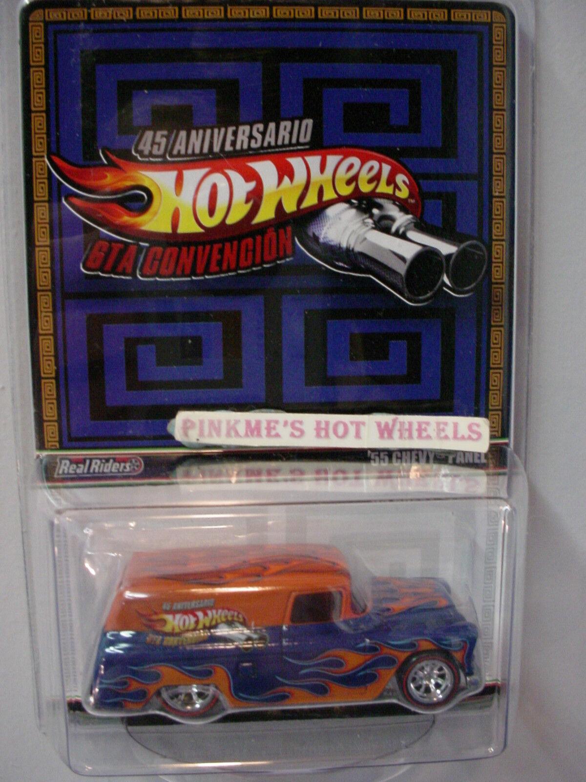 2013 Rlc 45TH Anni '55 Chevy Panneau Orange Bleu Real Riders Mexique Hot Wheels