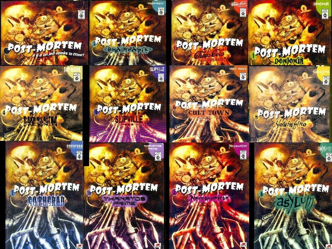 JDR SET ROLE   POST-MORTEM THE RANGE FULLY BOOKLET BASIC + 11 SUPPLEMENTS