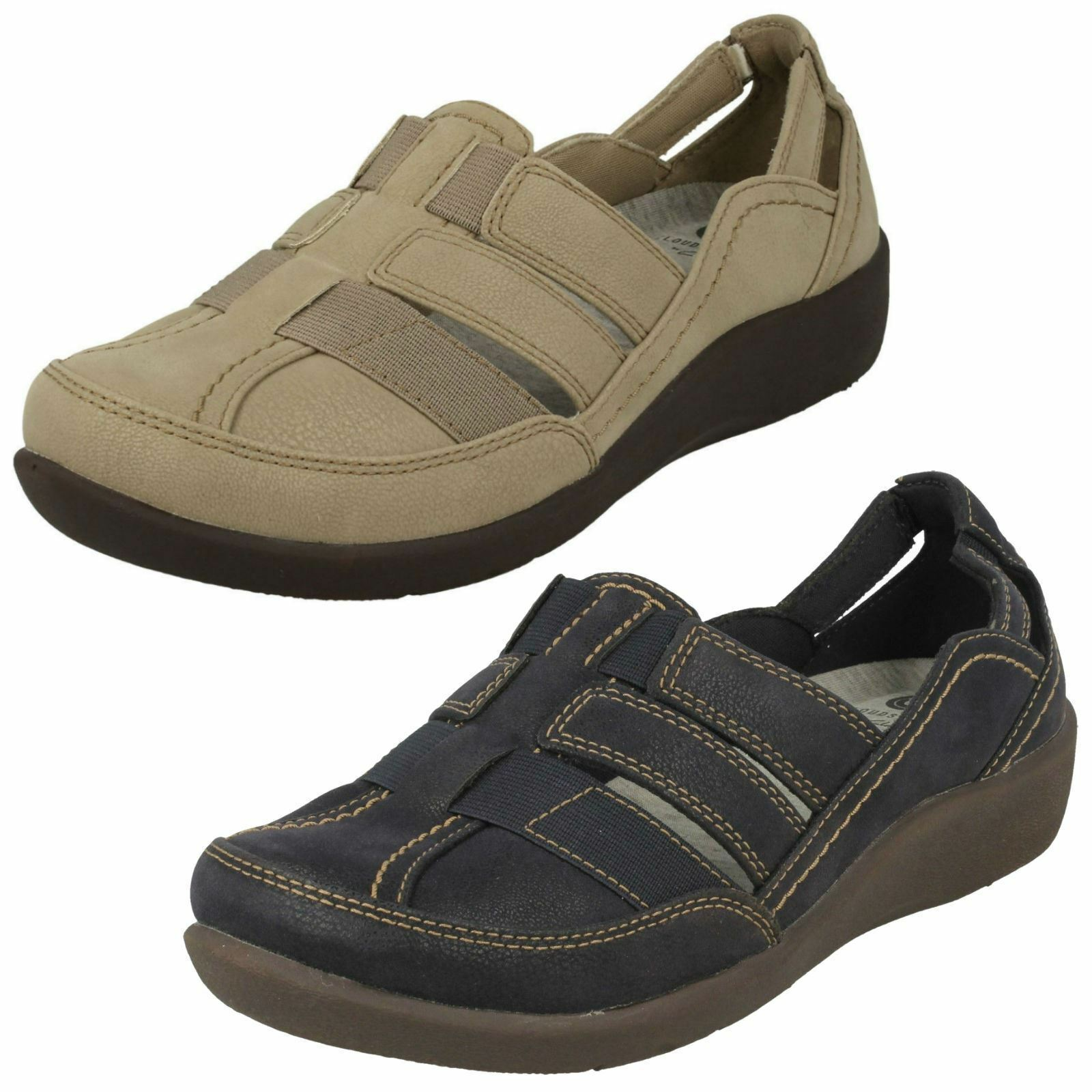 Ladies Clarks Cloud Steppers Sillian Stork Casual Shoes E Fitting