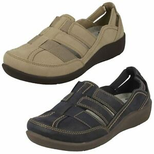 Kleidung & Accessoires Professioneller Verkauf Ladies Clarks Cloud Steppers Sillian Stork Casual Shoes E Fitting Buy One Give One