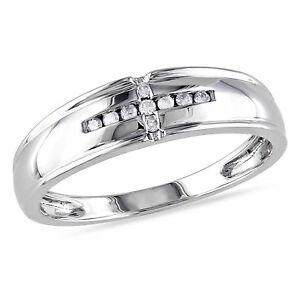 G-H,I2-I3 3 Diamond Wedding Band in 10K Yellow Gold Size-5.25 1//10 cttw,